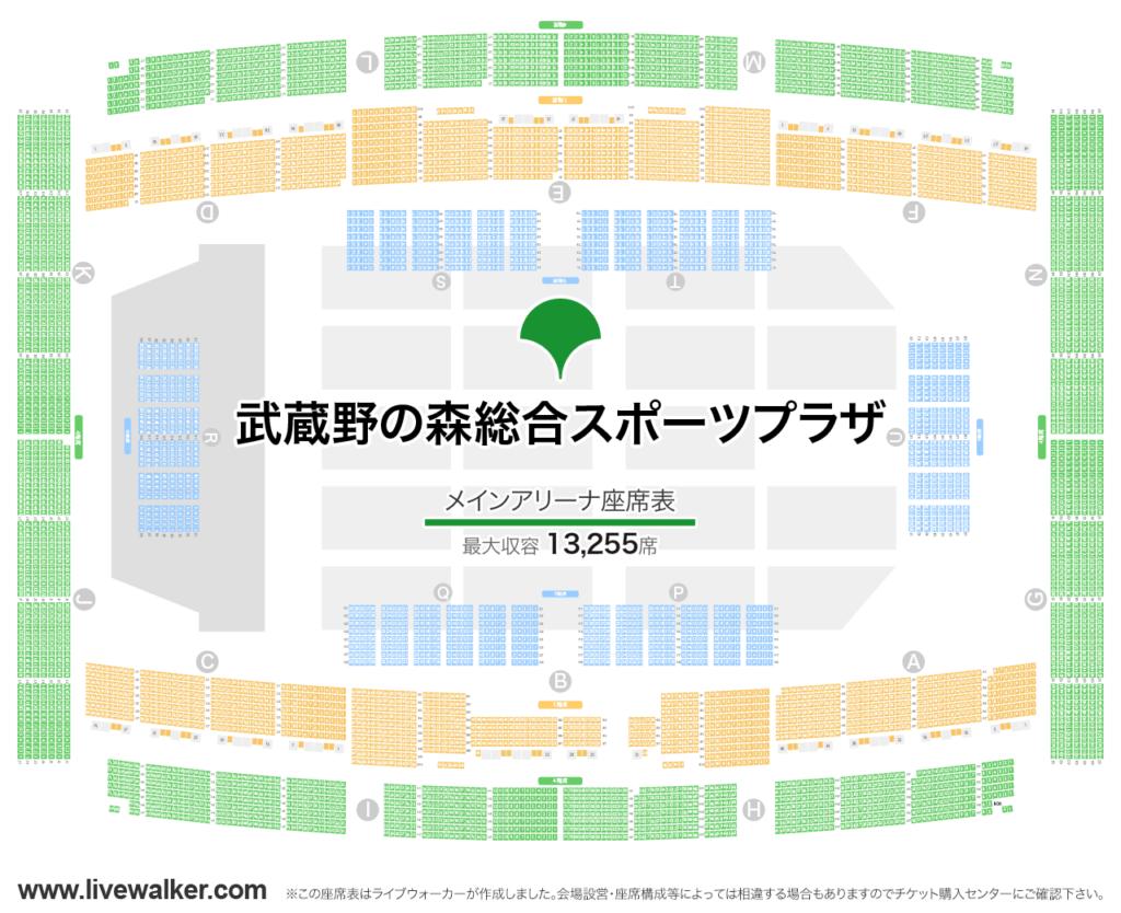 欅坂46ライブ 武蔵野の森総合スポーツセンターの席って?